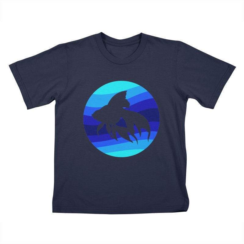 Blue wave Kids T-Shirt by DERG's Artist Shop