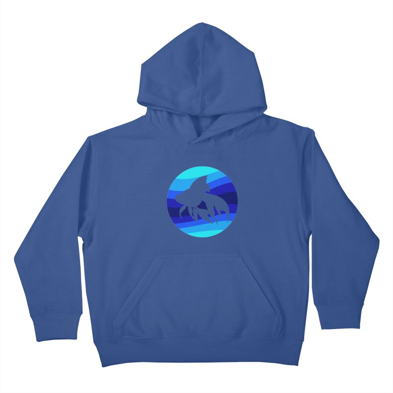 Blue wave Kids Pullover Hoody by DERG's Artist Shop