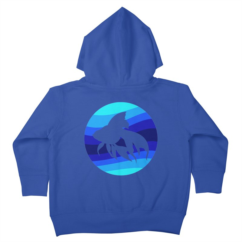 Blue wave Kids Toddler Zip-Up Hoody by DERG's Artist Shop