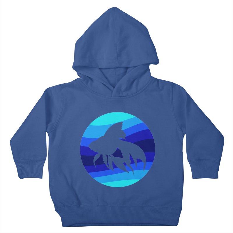 Blue wave Kids Toddler Pullover Hoody by DERG's Artist Shop