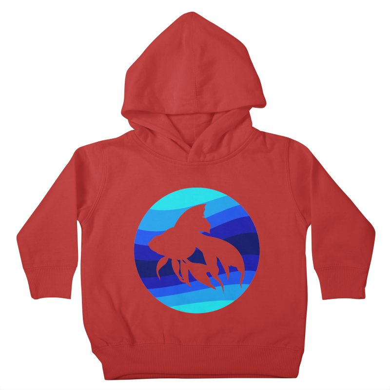 Blue wave Kids Toddler Pullover Hoody by DERG's Artist Shop