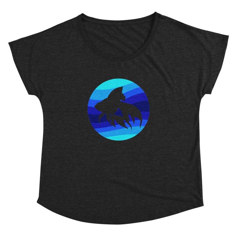 Blue wave Women's Dolman by DERG's Artist Shop