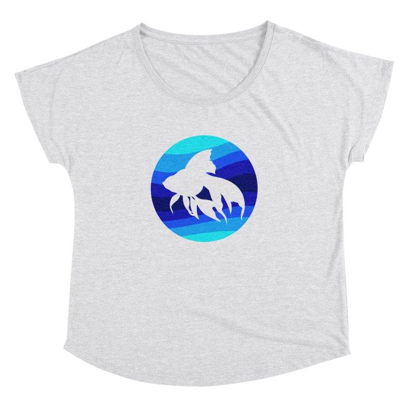 Blue wave Women's Dolman Scoop Neck by DERG's Artist Shop