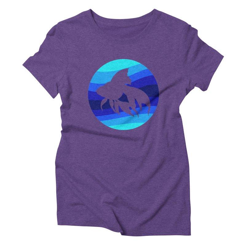 Blue wave Women's Triblend T-Shirt by DERG's Artist Shop