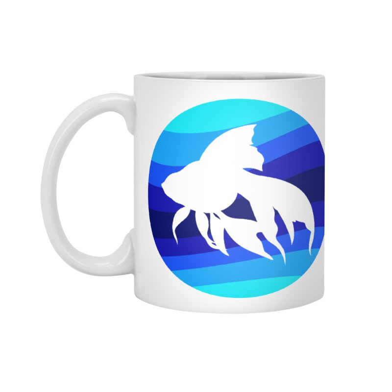 Blue wave Accessories Mug by DERG's Artist Shop