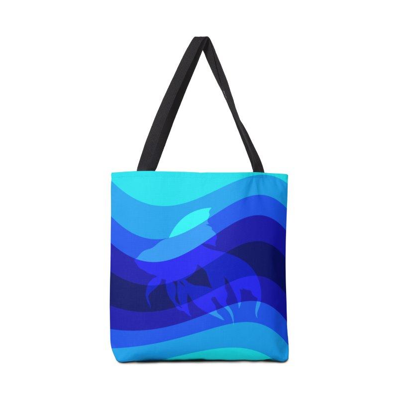 Blue wave Accessories Bag by DERG's Artist Shop