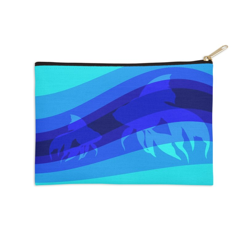Blue wave Accessories Zip Pouch by DERG's Artist Shop
