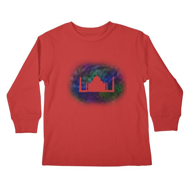 Taj Mahal Kids Longsleeve T-Shirt by DERG's Artist Shop