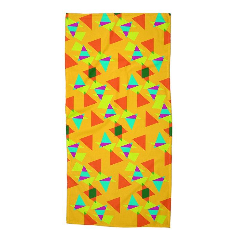 Confetti Accessories Beach Towel by DERG's Artist Shop