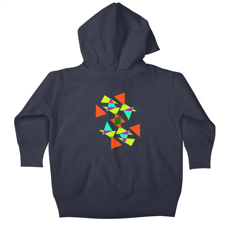Confetti Kids Baby Zip-Up Hoody by DERG's Artist Shop
