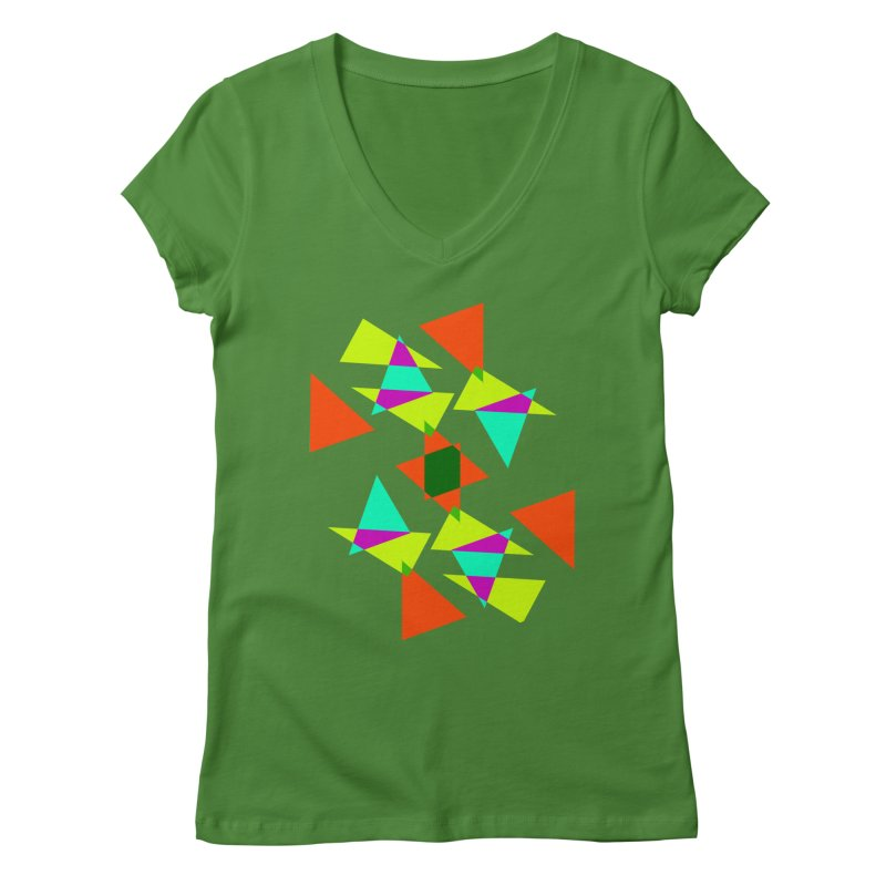Confetti Women's V-Neck by DERG's Artist Shop