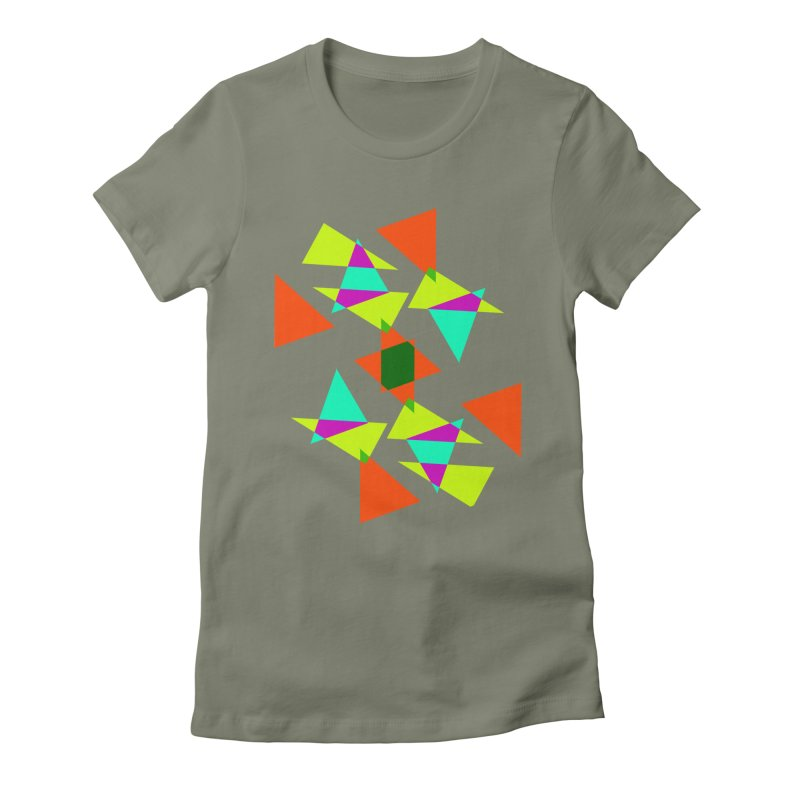 Confetti Women's Fitted T-Shirt by DERG's Artist Shop