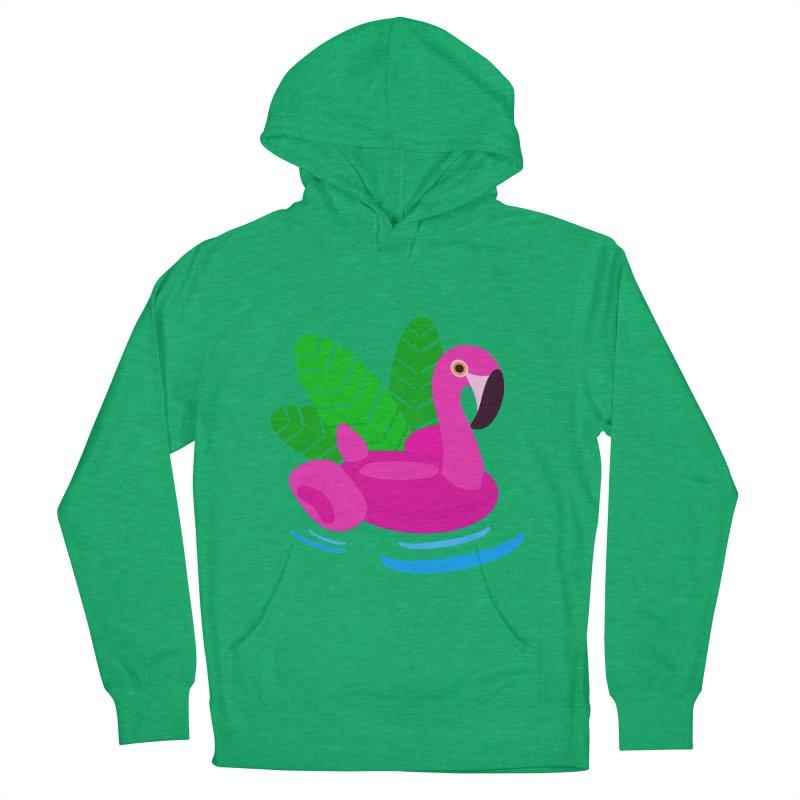 Summer flamingo Men's Pullover Hoody by DERG's Artist Shop