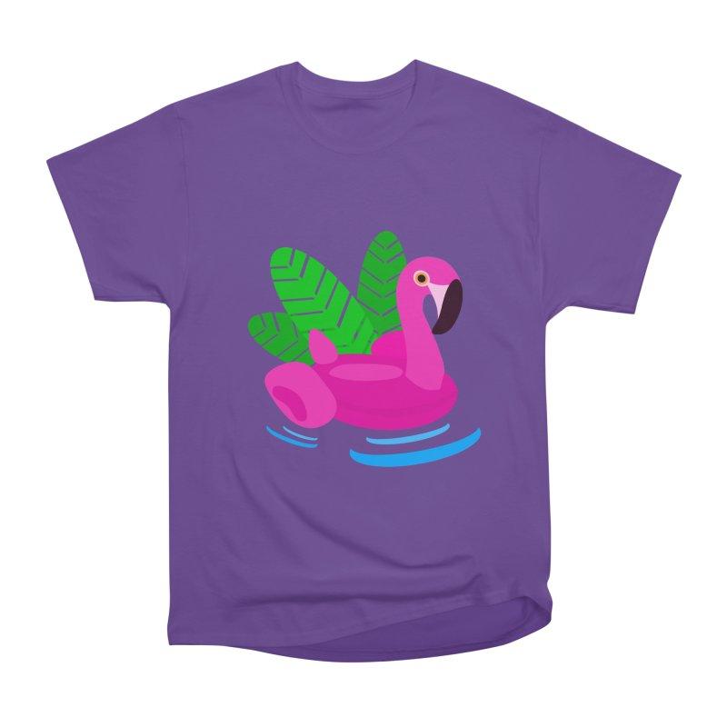 Summer flamingo Women's Heavyweight Unisex T-Shirt by DERG's Artist Shop
