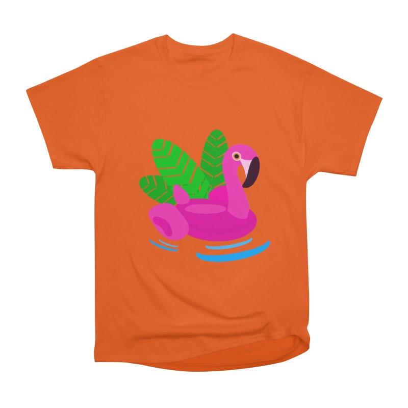 Summer flamingo Men's Heavyweight T-Shirt by DERG's Artist Shop