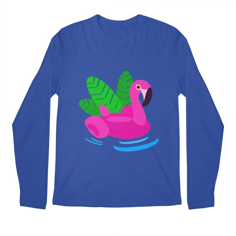 Summer flamingo Men's Longsleeve T-Shirt by DERG's Artist Shop