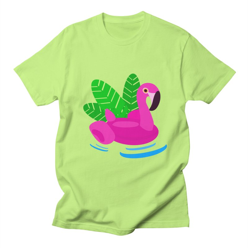 Summer flamingo Men's T-shirt by DERG's Artist Shop
