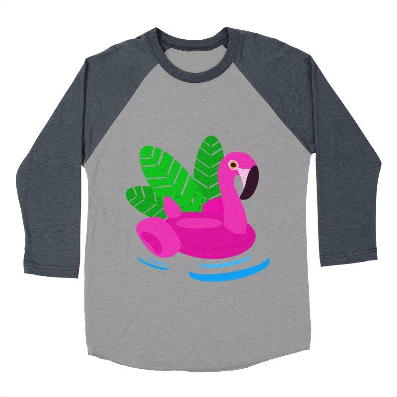 Summer flamingo Women's Baseball Triblend T-Shirt by DERG's Artist Shop