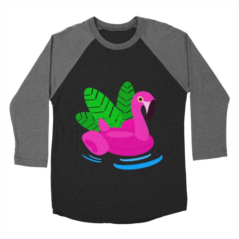 Summer flamingo Men's Baseball Triblend T-Shirt by DERG's Artist Shop
