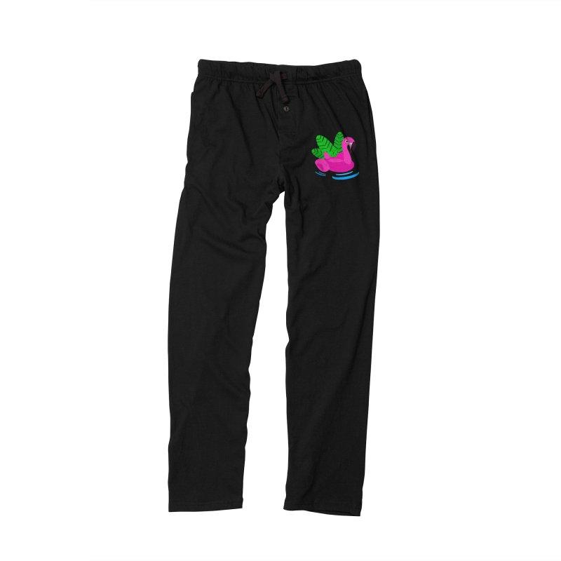 Summer flamingo Men's Lounge Pants by DERG's Artist Shop