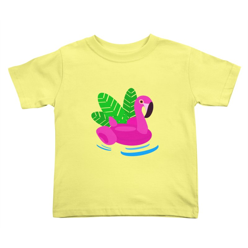 Summer flamingo Kids Toddler T-Shirt by DERG's Artist Shop