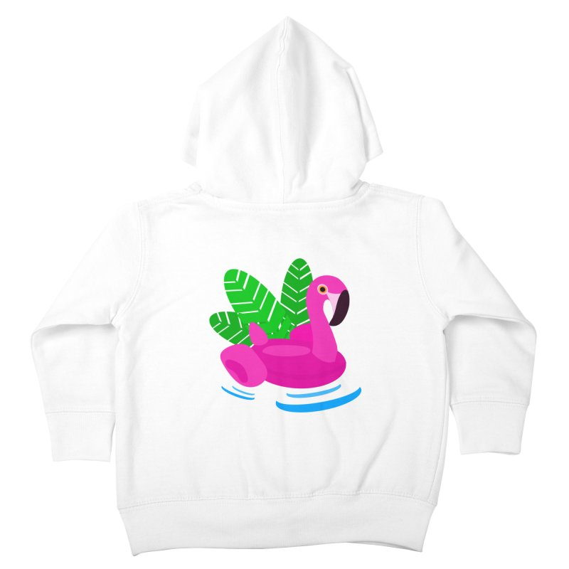 Summer flamingo Kids Toddler Zip-Up Hoody by DERG's Artist Shop