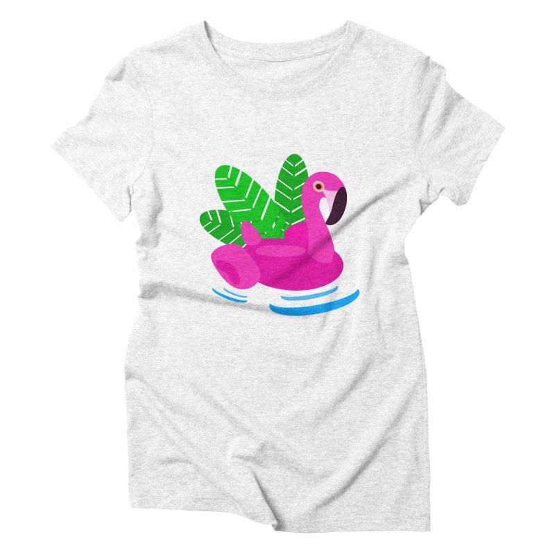 Summer flamingo Women's Triblend T-shirt by DERG's Artist Shop