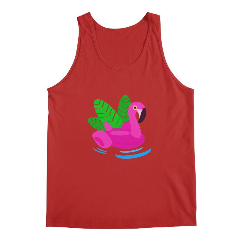 Summer flamingo Men's Tank by DERG's Artist Shop