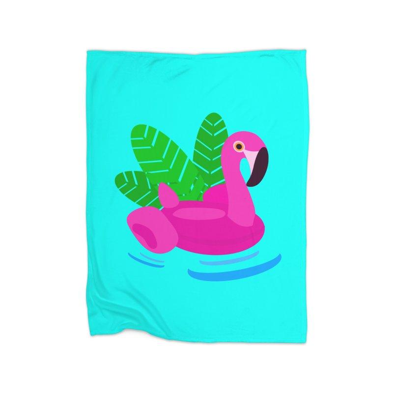Summer flamingo Home Blanket by DERG's Artist Shop