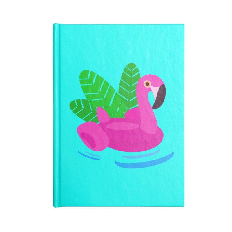 Summer flamingo Accessories Blank Journal Notebook by DERG's Artist Shop