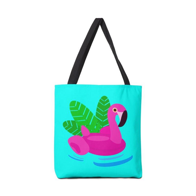 Summer flamingo Accessories Bag by DERG's Artist Shop