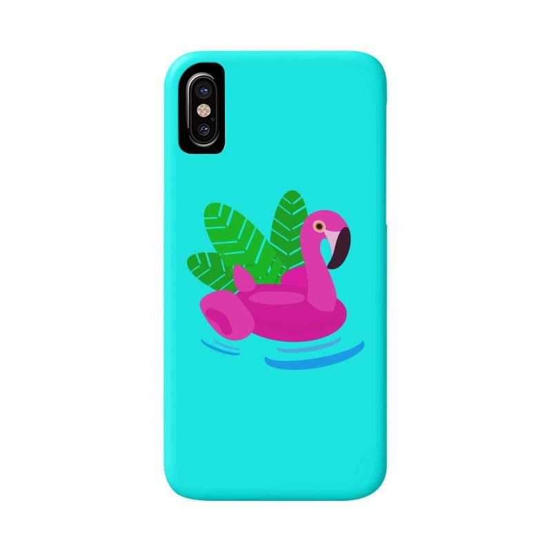 Summer flamingo Accessories Phone Case by DERG's Artist Shop