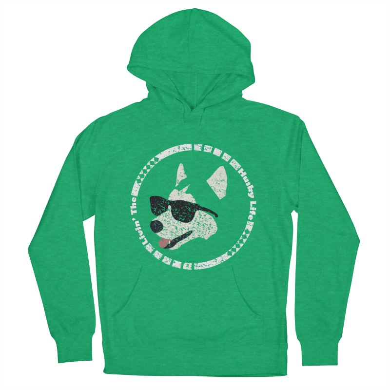 Livin' the husky life Women's French Terry Pullover Hoody by DERG's Artist Shop