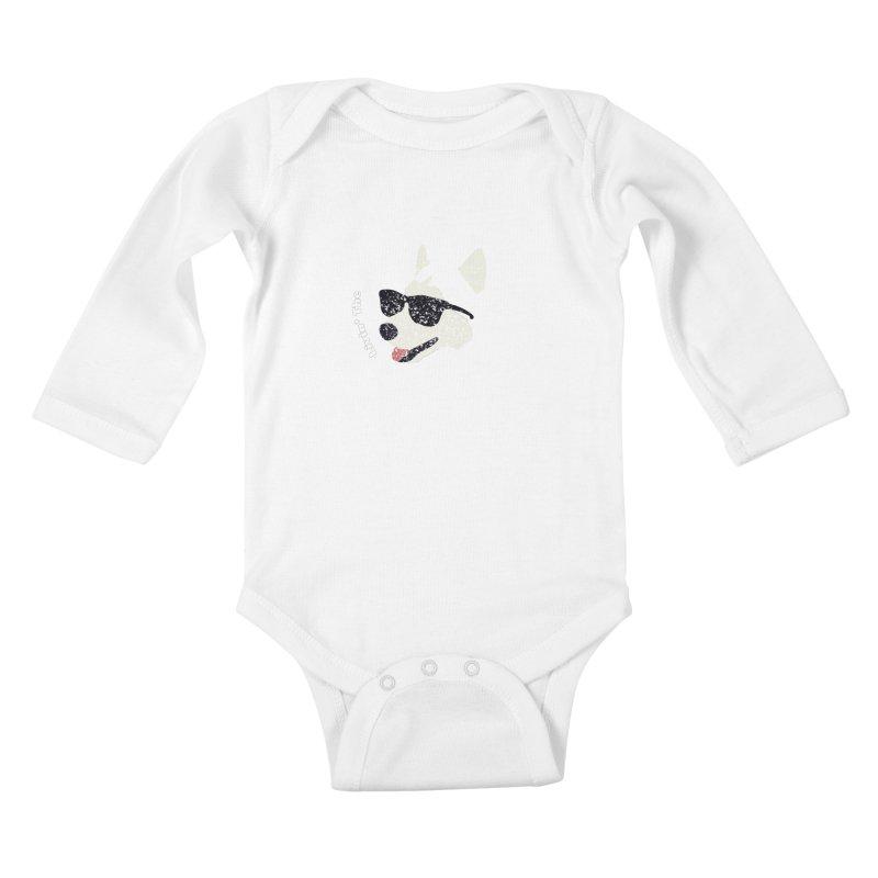 Livin' the husky life Kids Baby Longsleeve Bodysuit by DERG's Artist Shop