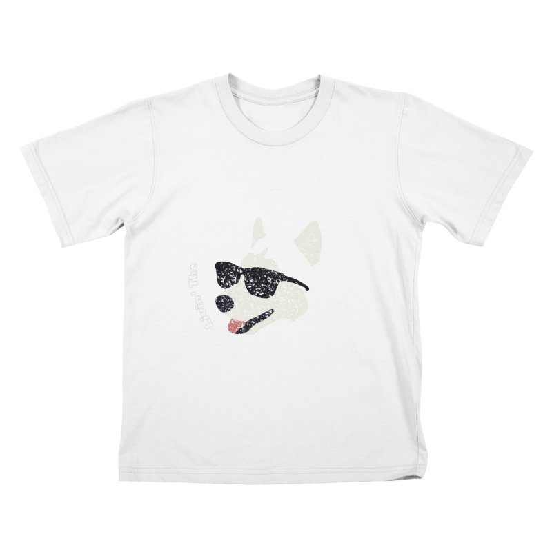 Livin' the husky life Kids T-shirt by DERG's Artist Shop