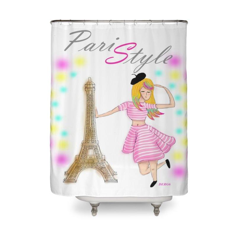 Paristyle Home Shower Curtain by DERG's Artist Shop