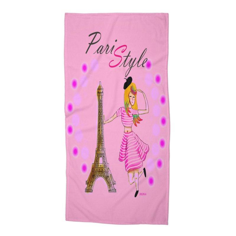 PariStyle pink Accessories Beach Towel by DERG's Artist Shop