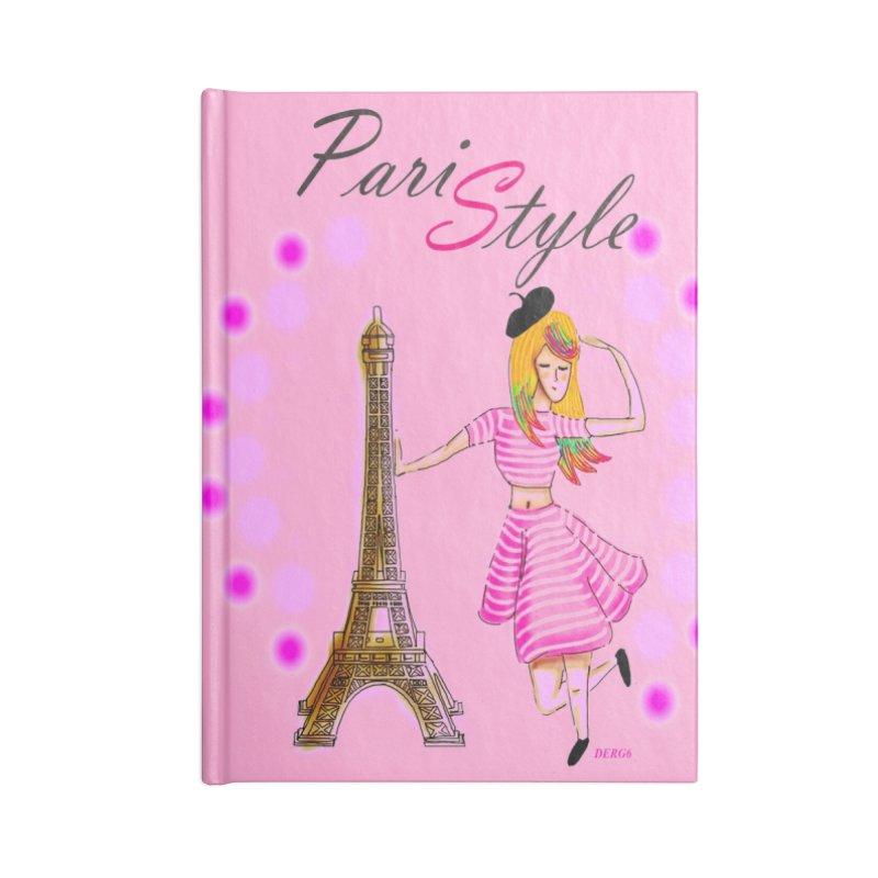 PariStyle pink Accessories Blank Journal Notebook by DERG's Artist Shop