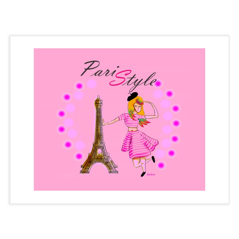 PariStyle pink Home Fine Art Print by DERG's Artist Shop