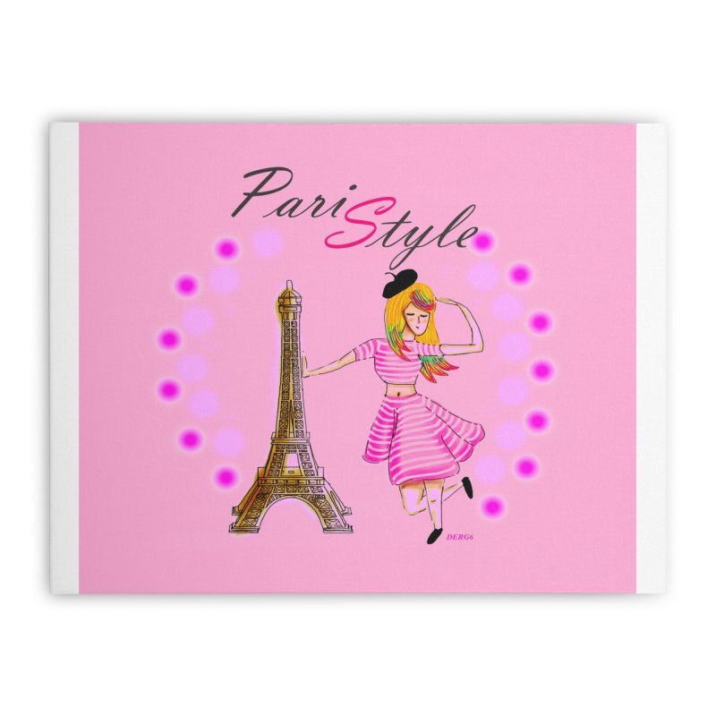 PariStyle pink Home Stretched Canvas by DERG's Artist Shop
