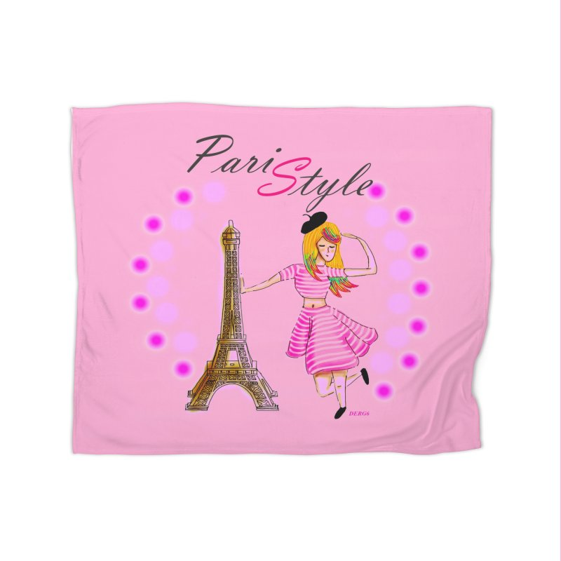 PariStyle pink Home Blanket by DERG's Artist Shop