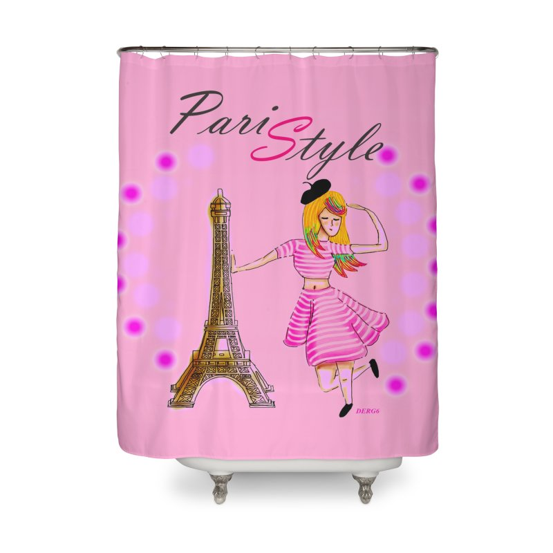 PariStyle pink Home Shower Curtain by DERG's Artist Shop