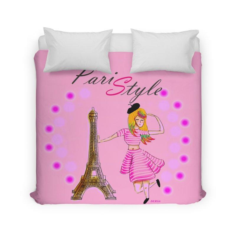 PariStyle pink Home Duvet by DERG's Artist Shop