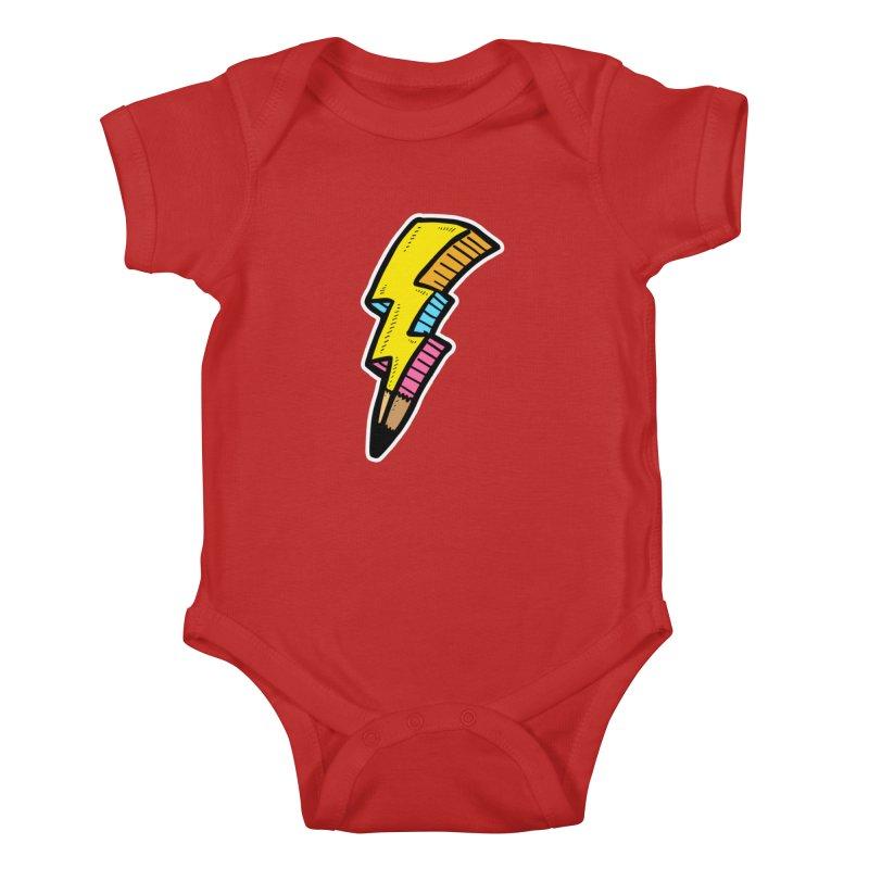 THUNDERSTOKE Kids Baby Bodysuit by DOMINATE'S Artist Shop