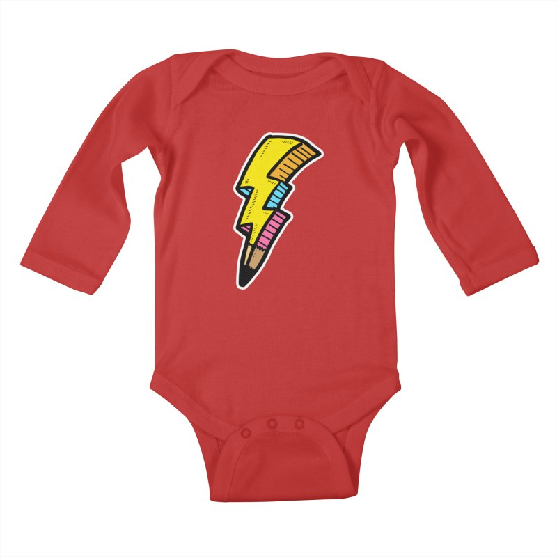 THUNDERSTOKE Kids Baby Longsleeve Bodysuit by DOMINATE'S Artist Shop