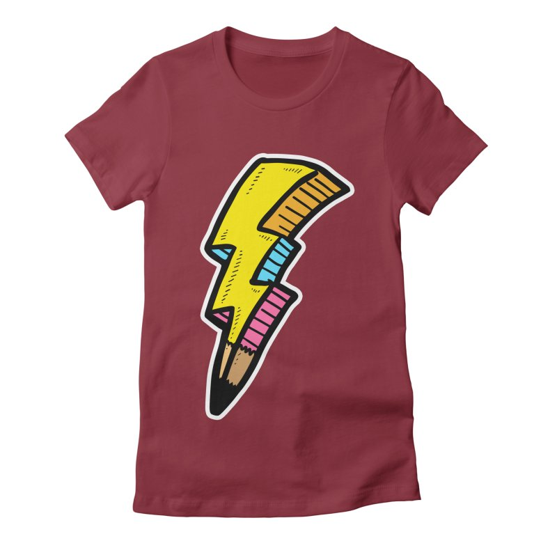 THUNDERSTOKE Women's Fitted T-Shirt by DOMINATE'S Artist Shop