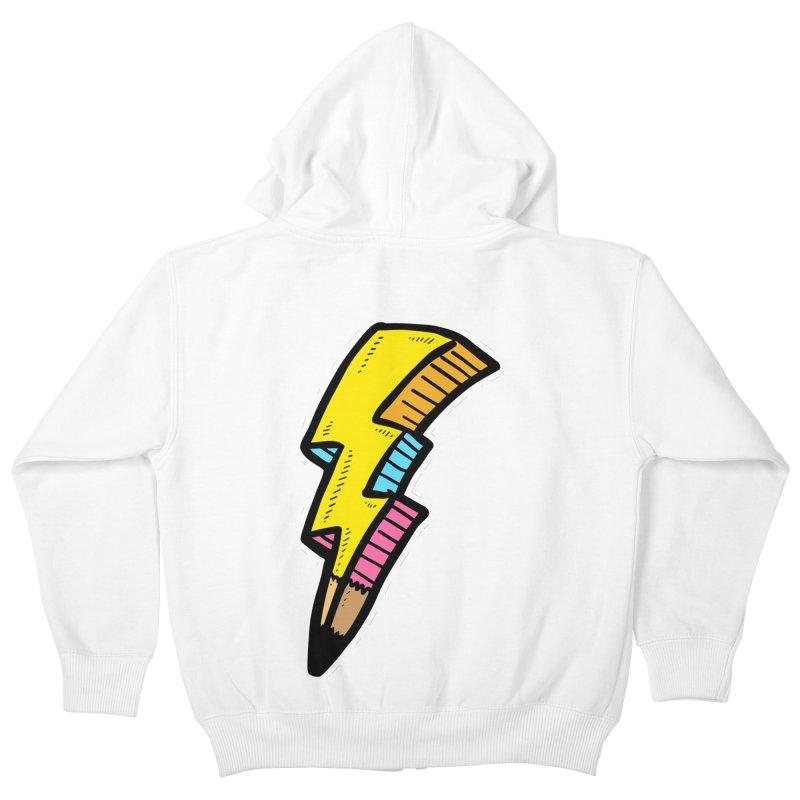 THUNDERSTOKE Kids Zip-Up Hoody by DOMINATE'S Artist Shop