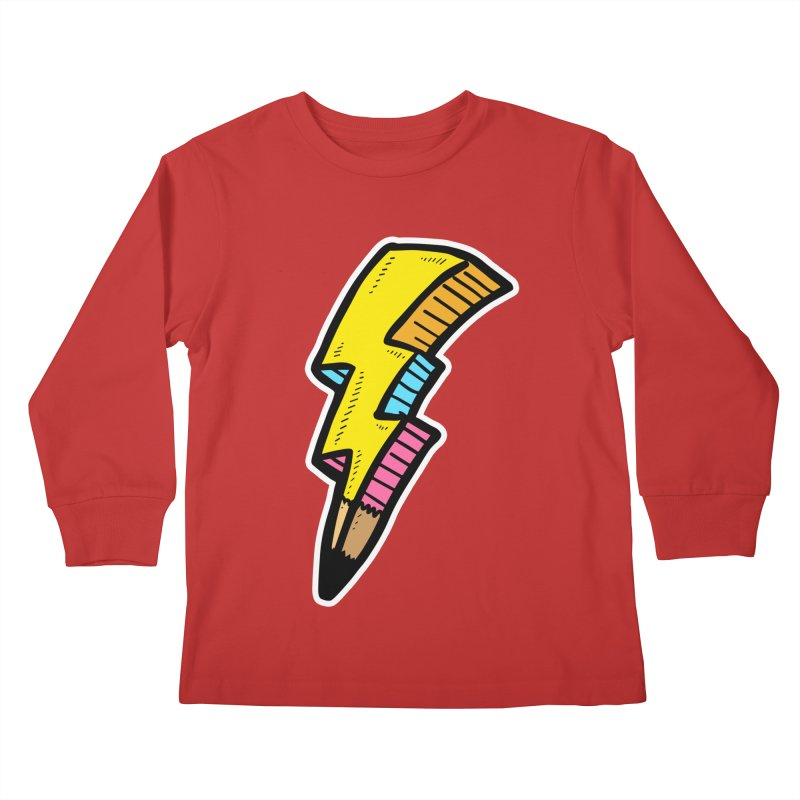 THUNDERSTOKE Kids Longsleeve T-Shirt by DOMINATE'S Artist Shop