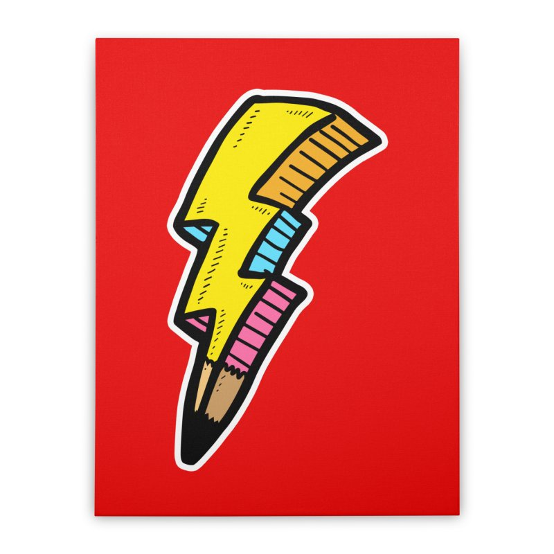 THUNDERSTOKE Home Stretched Canvas by DOMINATE'S Artist Shop