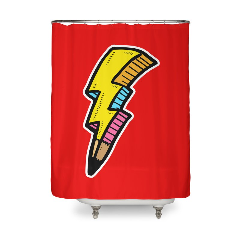 THUNDERSTOKE Home Shower Curtain by DOMINATE'S Artist Shop